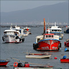 Barcos pesqueros en Galicia