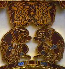 Sutton Hoo Ship Burial, Purse Lid detail with Prey