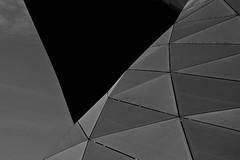BMW World (harry.f) Tags: light bw white black wall architecture germany munich münchen bayern deutschland bavaria grey wand bmw architektur sw abstrakt olympiapark bmwwelt schwarzundweiss harryf minimalabstract 28on35