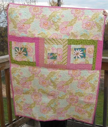 pink/green quilt back