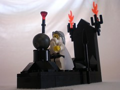 Lord of the Rings Custom Lego Saruman & the Palantir