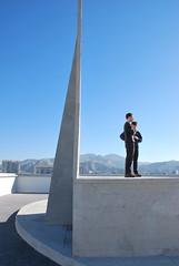 Le Corbusier, Unit d'Habitation, Marseille - on the roof (neil mp) Tags: marseille france provence lecorbusier unitedhabitation concrete boardmarked sculpture sculptural light sunlight shadow sky blue modern modernmovement architecture brutalism reinforcedconcrete terrace runni
