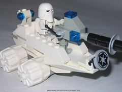 Star Wars Custom Lego The Imperial Snow Mobile