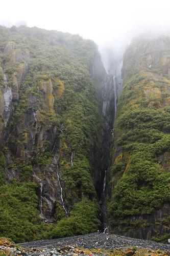 Waterfalls by Franz Joseph glacier, day 10