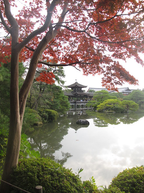 Heian Shrine Garden Fall