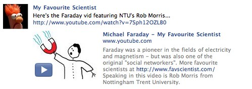 My Favourite Scientist - Produced by the University of Nottingham folks, videos that make science fun and accessible.