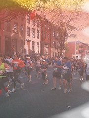 BadCamera at NYC Marathon 2010 (badcamera_app) Tags: nyc brooklyn marathon lightleak damaged badcamera app 2010 emulsion