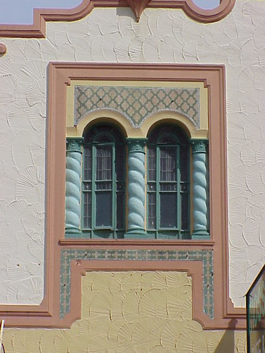 Window, former Gaiety de Luxe Cinema, Napier
