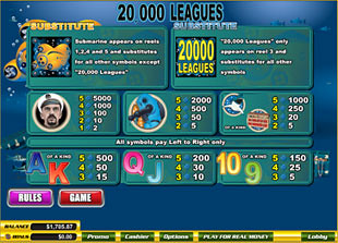 free 20,000 Leagues slot mini symbol