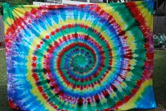 Rainbow Swirl Tie Dye Sheet/ Tapestry