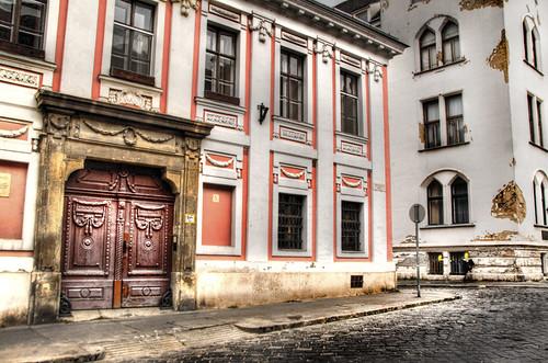 Castle district street. Budapest. Calle del distrito del castillo