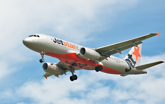 Jetstar A320 Christchurch, 19 Nov. 2010