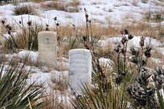 Winter Scene, Little Big Horn - 01 (WY Man) Tags: winter snow grave army montana indian headstone tombstone battle nativeamerican crow battlefield cheyenne littlebighorn custer crazyhorse sioux lakota oglala