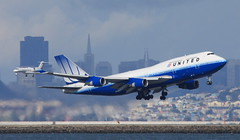 (A Sutanto) Tags: sf sanfrancisco california ca city usa skyline star airport sfo united off take boeing airlines ua alliance b747 ksfo b747400 b744