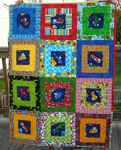 vehicle/primary color charity quilt