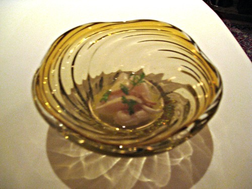 Manresa - Los Gatos, CA - November 20, 2010 - Geoduck clam in apple and sea water