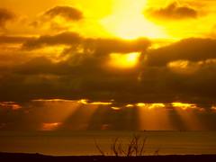 Sunset over the Irish Sea (billnbenj) Tags: sunset sky orange gold golden cumbria barrow irishsea orangeglow