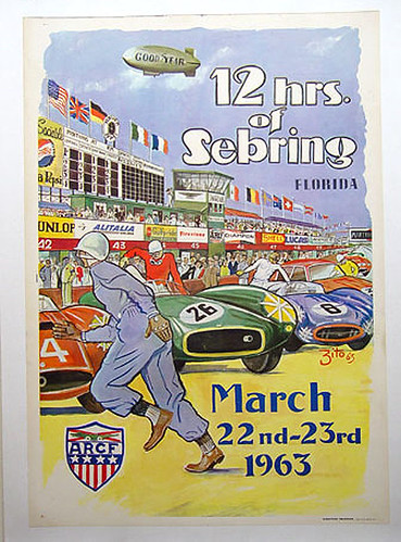 024-Sebring 1963-© 2010 Vintage Auto Posters. All Rights Reserved