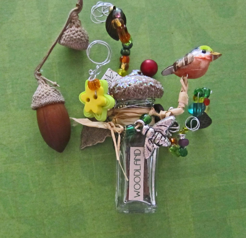 Miniature Assemblage WOODLANDS Bursting and Popping with Enchantment and Nature Related Embellishments
