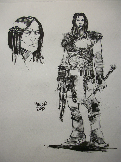 Barbarian sketch by Kevin Mellon