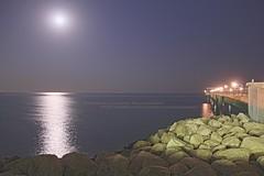 (Othman Al Duwaihey) Tags: light sea moon reflection water night al view kuwait q8 othman duwaihey