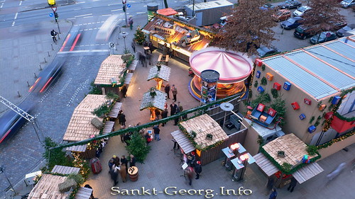 Erster Weihnachtsmarkt in Hamburg St. Georg