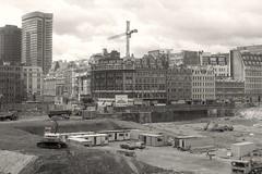 Before Broadgate (Lost-Albion) Tags: london blackwhite construction pentax demolition broadgate liverpoolstreet broadstreet officedevelopment
