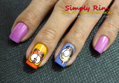 Nail Art Garfield 03