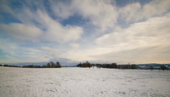 Clouds and snow at Dinefwr Park (EionaR. [busier than ever]) Tags: snow wales carmarthenshire wfc wideangled dinefwrpark