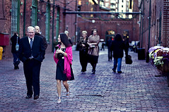Zero Degree Attire (SqualorLee) Tags: city pink wedding toronto ontario canada mill st downtown dress district suit trinity distillery holycrapitscold
