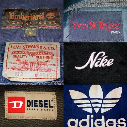 Etiquetas e logos