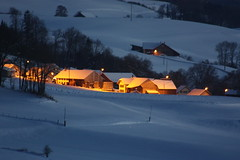 Evening (Elysium 2010) Tags: schnee sunset snow atardecer evening abend twilight tramonto nieve neve neige dmmerung crepusculo soir crpuscule tarde sera top20clonepics concordians