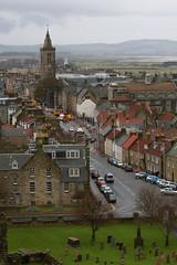 Grey Day on North Street (JmsSplln) Tags: rain scotland university rooftops cathedral fife graves churchyard standrews monday links raisin oldcourse northstreet strulestower stsalvators universityofstandrews