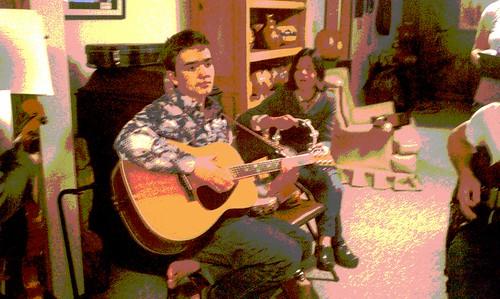 Guitar son & tamborine sister-in-law