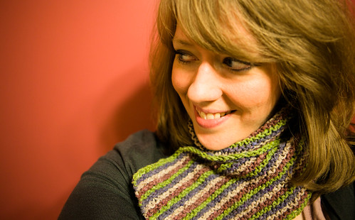 Stripey Tweed Scarf