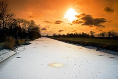 fire and ice (D.Reichardt) Tags: winter sun ice nature river germany landscape europe notherngermany natureplus kleinensiel filtercokin flickraward