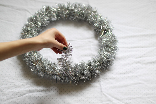 tinsel wreath
