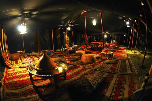Resto nomade et salon de thé sous nos tentes Marocaines