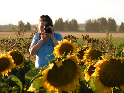 Liz Among the Sunflowers by katiemetz, on Flickr