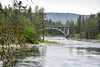 Bridge Over Spokane River Near Long Lake Dam (Carolyn H. - Travel & Nature Photographer) Tags: forested forest trees landscape water outdoors outdoor nikon d5500