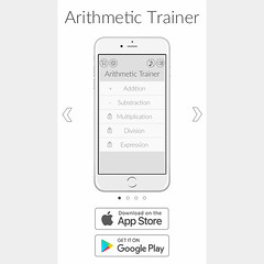 """Mobile first landing page for my """"Arithmetic Trainer"""" mobile app. You can download Arithmetic Trainer app IOS version: https://goo.gl/V5jA7N Android version: https://goo.gl/PPdtbX #desing #ArithmeticTrainer #app #mobile #mobileapp #landing #landingpage #w (razzhivin_ru) Tags: instagram photo photographer foto razzhivin разживин фотография photography"""