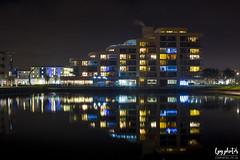 Portishead Flats (lpg_photos) Tags: flats accomodation portishead somerset water reflections lights