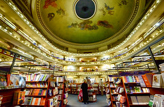 El Ateneo Grand Splendid Bookstore in Buenos Aires, Argentina (` Toshio ') Tags: toshio buenosaires argentina elateneograndsplendid bookstore books theater southamerica ceiling interior people fujixe2 xe2 painting art