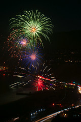 52 (morgan@morgangenser.com) Tags: pacificpalisaddes beach belairbayclub blue celebrate fireworks color iso100 july3rd loud nikon night ocean orange pch people red reflection special spectacular streaks timeexposire tripod yellow amazing