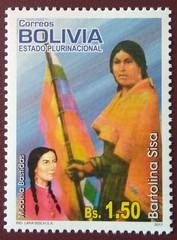 "stamp ""Bartolina Sisa"" (Bolivia 2012) (Sasha India) Tags: bolivia stamps philately sellos briefmarken"