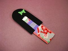 Magnetic Doll Bookmark - Mariko (umeorigami) Tags: asian japanese doll bookmarks sakura magnetic papercraft washi ningyo chiyogami dollbookmarks