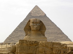 The Sphinx & Khafra's Pyramid (The Brit_2) Tags: sphinx pyramid egypt cairo pyramids soe giza scenics theunforgettablepictures excapture notjustlandscapes