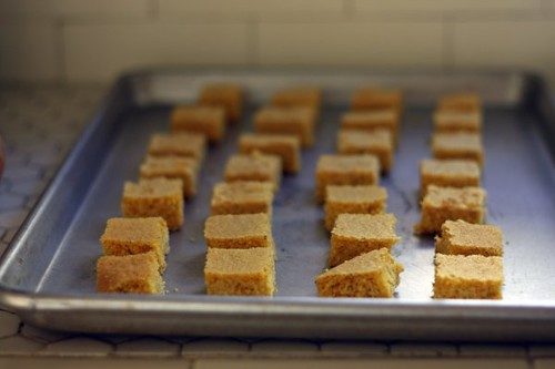 corn bread, waiting to be toasted