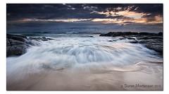 Swwoooosh! (danishpm) Tags: ocean seascape clouds sunrise canon sand rocks wave australia wideangle nsw aussie aus 1020mm manfrotto sigmalens kingscliff eos450d 450d kingcliff tweedshire sorenmartensen hitechgradfilters 09ndreversegrad