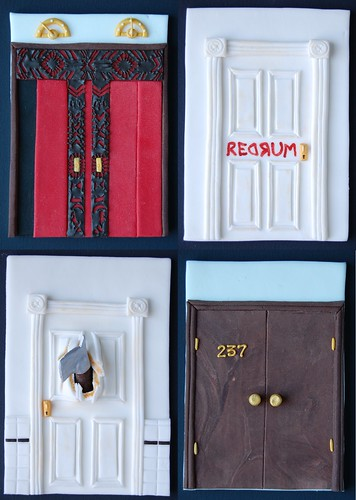 The doors of The Shining cake